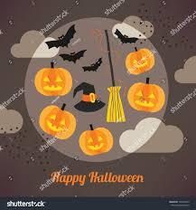 orange halloween ribbon background happy halloween card stock vector 148407422 shutterstock