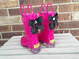light up rain boots light up pink sparkle rain boots with black and white polka dot