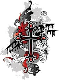 Small Tribal Cross - pictures of cross tattoos tattoos cross