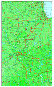 Illinois Map Of Cities by Illinois Elevation Map