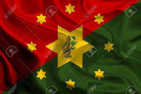 New Guinea Flag Flag Of Eastern Highlands Papua New Guinea Stock Photo Picture