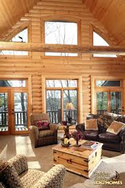 interior hunting rustic cabin living room with antler light cool