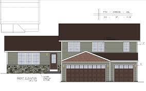 Floor Plan With Elevation by New Home Plans Cosgrove Homes