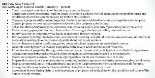 Objective Section On Resume Sample Realtor Resume Real Estate Agent Resume Statements In