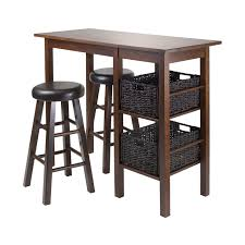 winsome wood 945 egan storage breakfast table with 2 round cushion