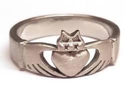 clatter ring claddagh ring set etsy