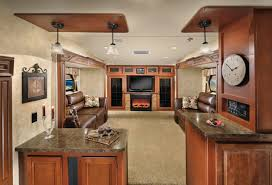 5th wheel with living room in front inside a 5th wheel cer forest river sierra 366fl 5th wheel with