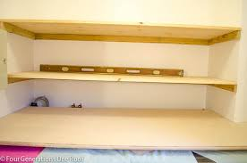 Floating Wood Shelf Diy by Diy Floating Shelves Laundry Room Four Generations One Roof