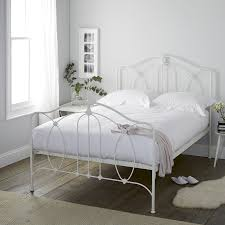 cream metal bed frame beds metal wooden u0026 upholstered the white company uk
