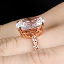 oval engagement rings gold oval cut 5 carat goldtone cz engagement ring