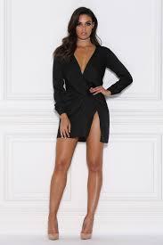 black dress adara mini satin dress black meshki