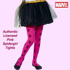 pink spider tights superhero halloween costume accessory