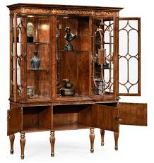 Antique Breakfront China Cabinet by Breakfront Display Cabinet With Adjustable Glass Shelves 15