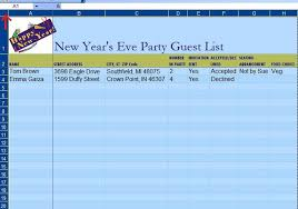 Tips For Making Your Guest List by How To Make A Guest List On An Excel Template Techwalla Com