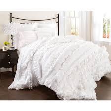 Bedroom Design With White Comforter Bedroom Awesome White Ruffle Bedding For Elegant Bedroom Design