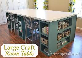 Diy Craft Desk With Storage Large Craft Table Hometalk