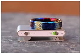 titanium colored rings images Another textured and colored titanium ring talkblade info knife jpg