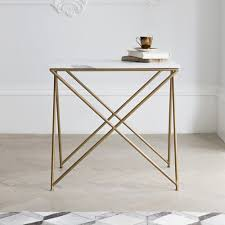 furniture marble side table with white wall design and small
