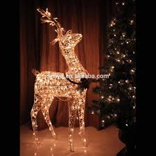 Lighted Sleigh And Reindeer by Christmas Deer Decorations Christmas Reindeer Elk Deer Santa