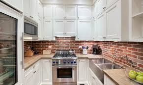 brick backsplash kitchen amazing kitchen with brick backsplash picture of style and white