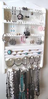 organize stud earrings jewelry organizer diy inspiration the notches for