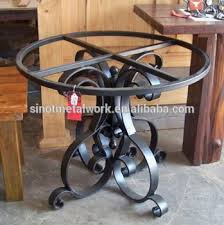 small wrought iron table small metal coffee table base for glass and stone pedestal wrought
