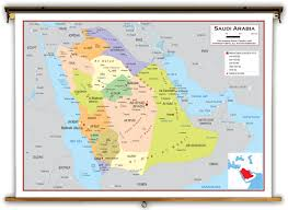 Red Sea World Map by Saudi Arabia Political Educational Wall Map From Academia Maps