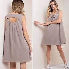 summer dress dresses skirts just in taupe tie front summer dress