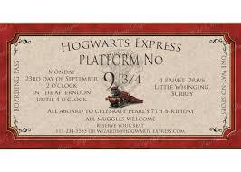 harry potter birthday invitation letter