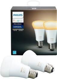 amazon black friday phillips hue ambiance philips hue white ambiance a19 wi fi smart led bulb 2 pack white