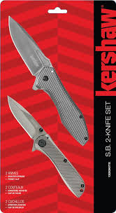 kershaw kitchen knives kershaw 1320kitx sb 2 knife set assisted opening utility flippers
