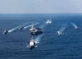 East China Sea Map Uss Carl Vinson Carrier Strike Group Wraps Up Exercises With Jmsdf