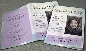 free sle funeral programs templates memorial program templates free resume template paasprovider