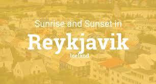 Sunset Reykjavik Sunrise And Sunset Times In Reykjavik
