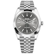 rolex steel oyster bracelet images Rolex oyster perpetual datejust 41 watch smooth bezel dark jpg