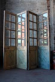 Room Divider Screens by 4 Panel Reclaimed Door Screen Wood And Glass Room Divider Screen