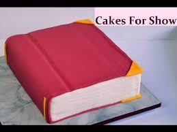 making a book cake youtube