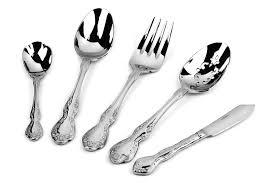 oneida mandolina stainless steel flatware set 65 piece cutlery