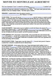 free illinois monthly lease agreement u2013 pdf template