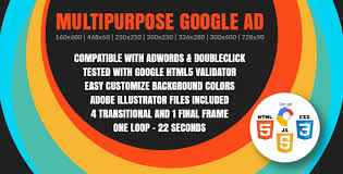 multipurpose google ad animated html5 google banner templates
