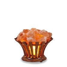 himalayan salt l basket neem wooden flower basket with salt chunks rmsalt