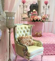 Decorated Baby Shower Chair Sparkles And Roses Baby Shower Baby Shower Ideas Themes Games