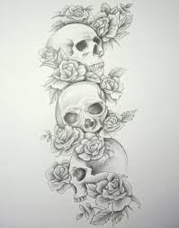 roses and hourglass tattoo designs