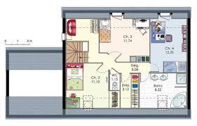 plan maison etage 4 chambres 1 bureau maison 4 chambres et un bureau