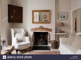 living room fireplace in bristol home of british fabric designer