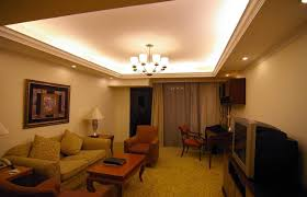 cove ceiling lighting idea for simple living room design for our