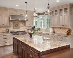 Kitchen Cabinets And Countertops Kitchen White Springs Granite With Best Cherry Cabinets Choose