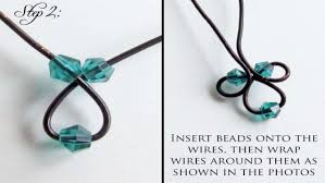 diy beaded pendant necklace images How to make twisted beaded pendant diy jewelry making tutorial jpg