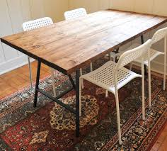 diy reclaimed wood dining table love this and the ikea adde
