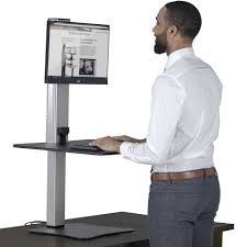 Sit To Stand Desk Converter by Victor Dc400 High Rise Electric Height Adjustable Standing Desk